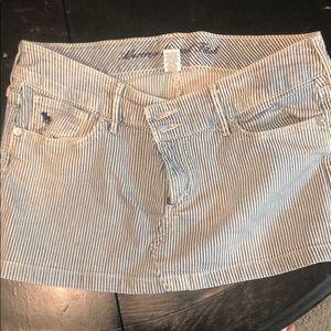 Abercrombie navy pinstripe Miniskirt.